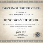 distinguished club award