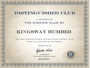 distinguished club award