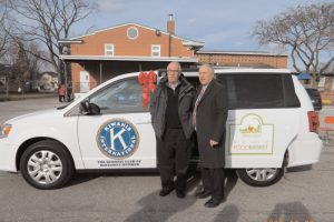 donation of van to St James Foodbank