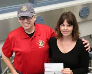 Cheque presentation Hugh Williams-kiwanis Julia Graham